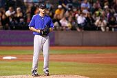 CENTRAL ISLIP-JULY 21: Sugar Land Skeeters pitcher Scott Kazmir (20) on the mound against the Long I