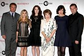 LOS ANGELES - JUL 21:  Hugh Bonneville,  Froggatt, Michelle Dockery, Shirley MacLaine, McGovern,  Coyle at a photocall for