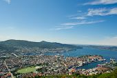 Norwegian City Of Bergen.