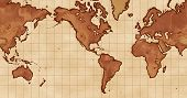 World Map Mercator Projection