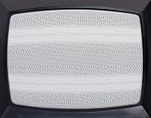 Retro television equipment noise display screen