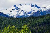 Tower Snow Mountain Washington Pass North Cascades National Park Pacific Northwest