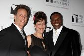 LOS ANGELES - JAN 29:  Steven Weber, Jane Kaczmarek, Keith David at the Valley Performing Arts Cente
