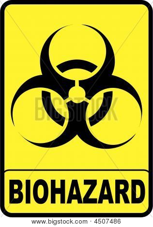 vectorial image biohazard warning color sign with yellow background picture royalty free stock. Black Bedroom Furniture Sets. Home Design Ideas
