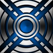 Blue And Metal Geometric Background