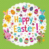 cute Happy Easter card