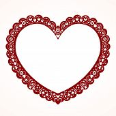 Valentine heart decorative frame