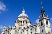 St. Paul's Cathedral And The Tower Of The Former St. Augustine Church In London