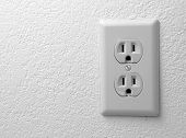 Electric Outlet On The Textured Wallpapers