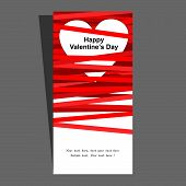 Valentine's card. Vector illustration.
