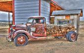 Old Truck Along Historic Route 66 In Truxton, Arizona
