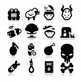Terrorismus-Icons