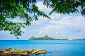 Hermosa playa de Santa Lucía, Islas del Caribe