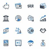 image of bank vault  - Set of 16 finance icons great for presentations - JPG