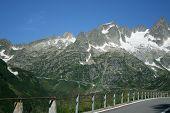 Road On Switzerland Mountains