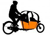 drawing of a passenger pedicab