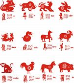 stock photo of chinese zodiac  - All of Chinese Zodiacs - JPG