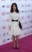 LOS ANGELES - FEB 23:  Salma Hayek arrives to the Film Independent Spirit Awards 2013  on February 23, 2013 in Santa Monica, CA.