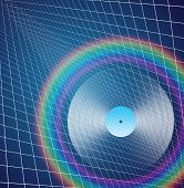 stock photo of lp  - Rainbow LP - JPG