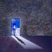 Abbildung in Tür