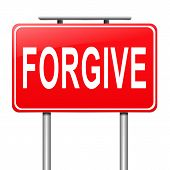 image of forgiven  - Illustration depicting a sign with a forgive concept - JPG