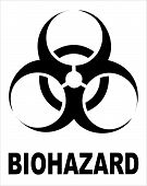 Biohazard Black Sign