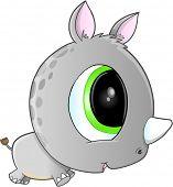 Cute Safari Rhino Vector Art