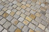 Cobblestones on an old street in Dessau
