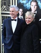 NEW YORK-NOV 18: Director Baz Luhrmann and Catherine Martin attend the premiere of