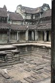 Upper Stone Courtyard At Angkor Wat, Cambodia