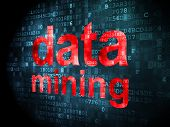 Data concept: Data Mining on digital background
