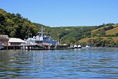 foto of dartmouth  - naval boat on the River dart at Dartmouth - JPG