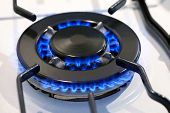 Burning Gas Ring On A Stove Top