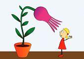 Cultivo de la flor - Vector