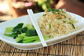 image of egg noodles  - Chinese Style the vegetable with Egg Noodle - JPG
