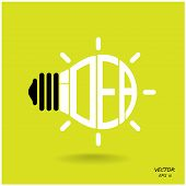 Creative Light Bulb, Business And Ideas Concepts,vector.