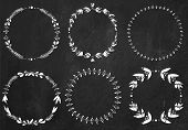 Collection of chalk  laurel wreaths