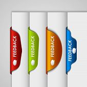 Color label bookmark feedback on the edge of web page