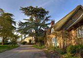 stock photo of english cottage garden  - The tiny village of Hidcote Bartrim near Hidcote Gardens - JPG