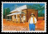 AUSTRALIA - CIRCA 1982: A Stamp printed in AUSTRALIA shows the Historic Australian Post Offices, Old