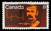 CANADA - CIRCA 1973: stamp printed by Canada, shows Commissioner G. A. French, circa 1973