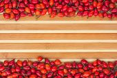 Rosehip On A Bamboo Mat