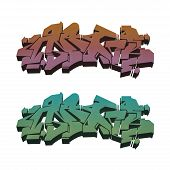 Colored Isolated Abstract Graffiti Set 1