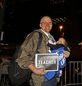 United Federation of Teachers Member with Baby