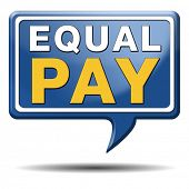 equal pay equal rights for man and woman on work marked fair payment opportunities with same salary