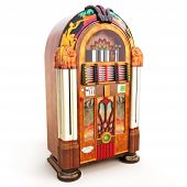 Retro vintage jukebox