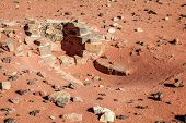 Remnants of an ancient copper smelting furnace at Timna National Park in Israel