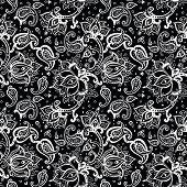 Seamless Paisley background.