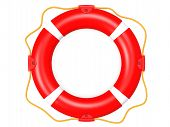 Life buoy topview red