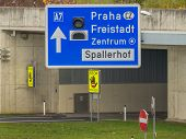 austria, linz, city highway. tunnel for noise calming the binder michel on motorway a7.